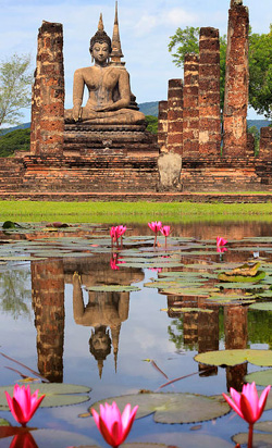 ancient temple sukhothai thailand
